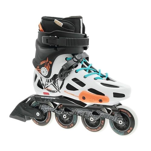 Patin-Rollerblade-TWS-80---Unisex---Freeskate---White--Orange