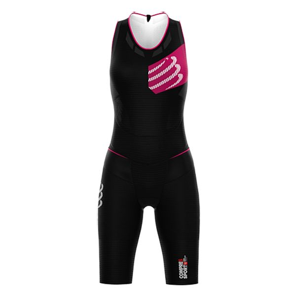 2d23e6ef3af6 Enterito Trisuit Compressport Tr3 Aero Triathlon Mujer - Black ...