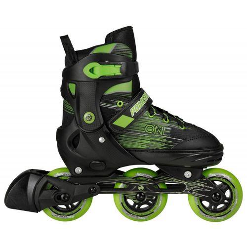 Roller-Powerslide--Joker-Niños-3-Ruedas-extensibles-3-talles-Black-Green-EUR-29-32---ARG-28-31---CM-18.5-20.3