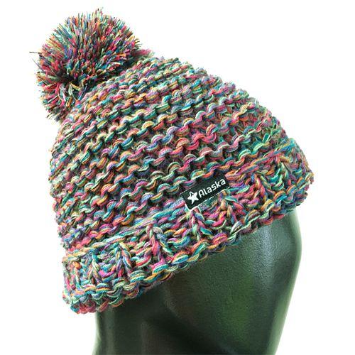 Gorro-Alaska-Pompon-Multicolor-Mujer