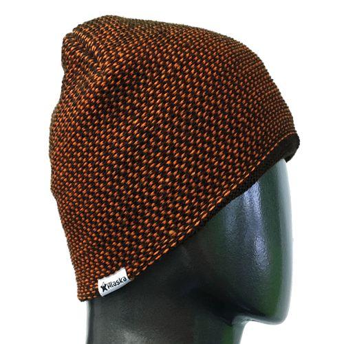 Gorro-Alaska-Naranja-y-chocolate-unisex