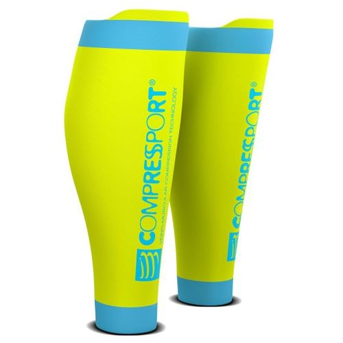 Pantorrilleras--Compressport-R2-V2---Trail-Running---Ciclismo---Recovery-Fluo-Yellow-Talle-4--42-46-CM