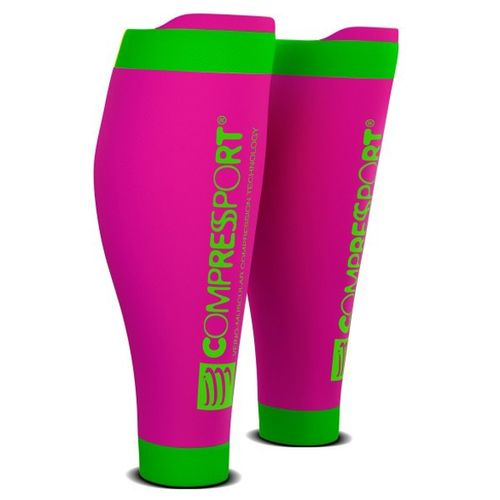 Pantorrilleras--Compressport-R2-V2---Trail-Running---Ciclismo---Recovery-Fluo-Pink-Talle-2--34-38-CM