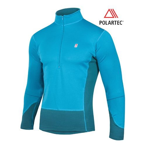 Camiseta-Termica-Ansilta-Neyun---Hombre---Polartec-Heavy-Weight-Azul-Petroleo-M
