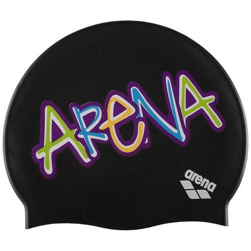 Gorro-Natacion-Arena-Printed-Jr---Niños-Sparkle-Black