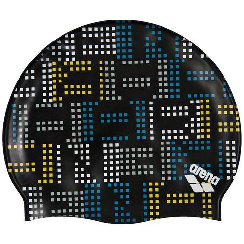 Gorro-Natacion-Arena-Printed-Jr---Niños-Neon-Black