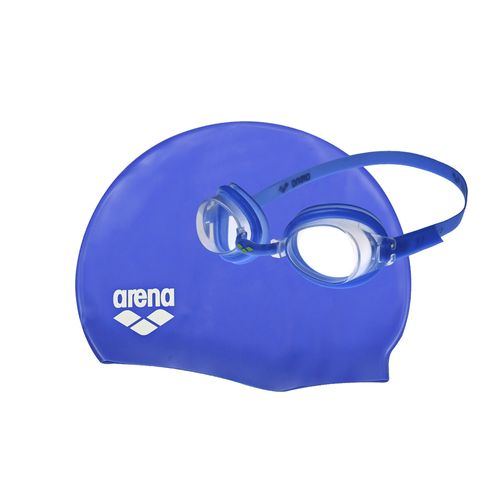 Set-Antiparras---Gorro-Natacion-Arena-Pool---Niños-Blue---White