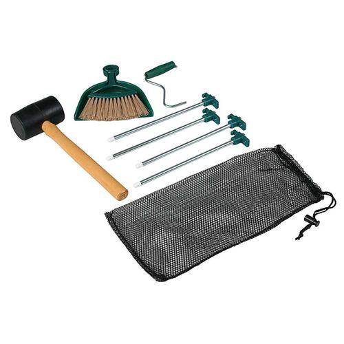 Kit-Limpieza-Coleman-Estacas-Martillo-Escoba-Pala-Para-Carpa