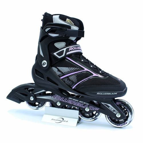 Patin-Rollerblade-Zetrablade--W---Mujer---Fitness---Composite-Black---Lilac-CM-24---ARG-37---EUR-38