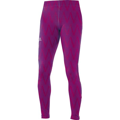 Calza-Salomon-Graphic-Tight-II-long--Dama--15446-Gaura-Pink-Print--XS