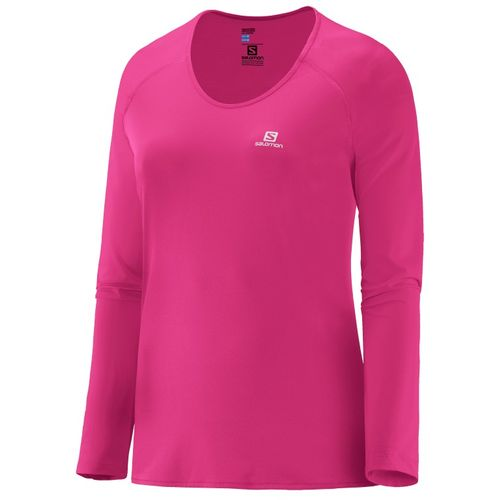 Remera-Salomon-Hybrid-Ls-Tee--Dama--15316-Hot-Pink-XL