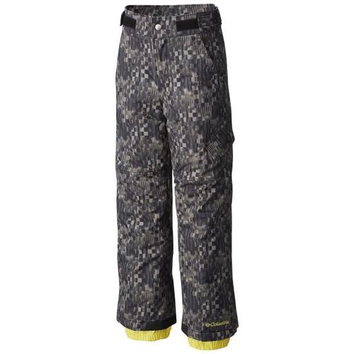 Pantalon-Columbia-Ice-Slope-Niños-impermeables-de-ski-S-Black-Block-Printed