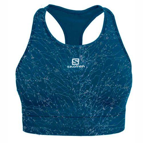 Top-SalomonMedium-Impact--Bra--Dama--14302-Stone-Blue-Print-XS