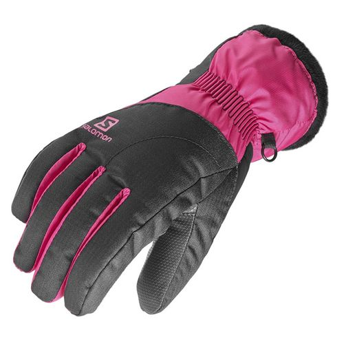 Guantes-Salomon-Force-Dry-ski-Snow-Mujer-383138-Black-Gaura-Pink-XS
