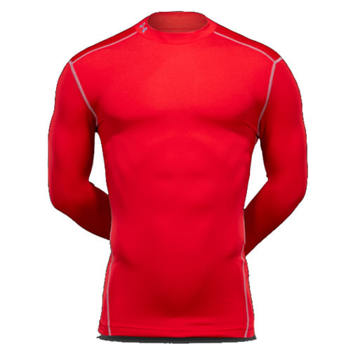 Remera-Under-Armour--ColdGear®-Armour-Compression-Mock--Hombre--S-Red