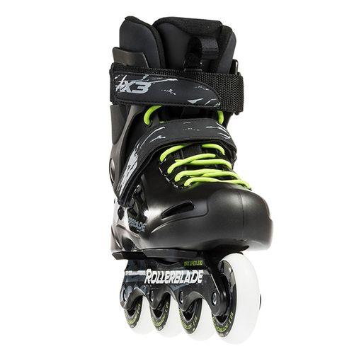 Patin-Rollerblade-Fusion-X3---Unisex---Urban-Black-Green-CM-25.5---ARG-39---EUR-40