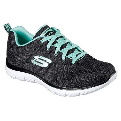 Zapatillas-Skechers-Flex-Appeal-2.0-High-Energy---Mujer---Running-USA-5.5---ARG-35.5---CM-22.5-Black---Aqua