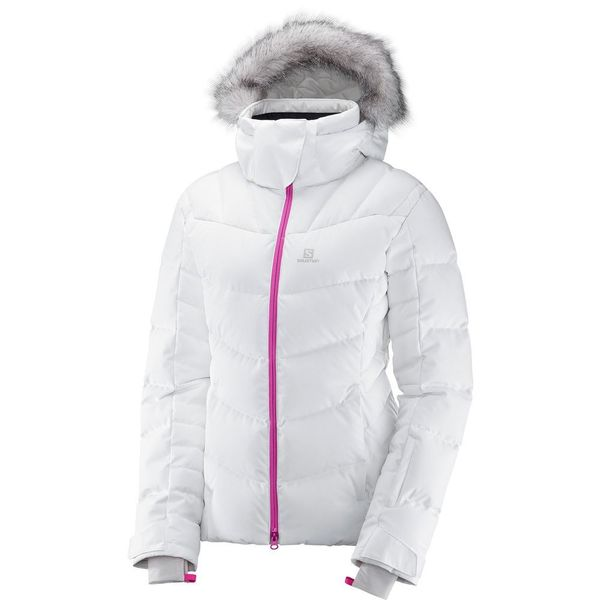 7078e7d5a0a Campera Salomon Icetown - Mujer Pluma Ski Snow Impermeable - 397755 White  Heather