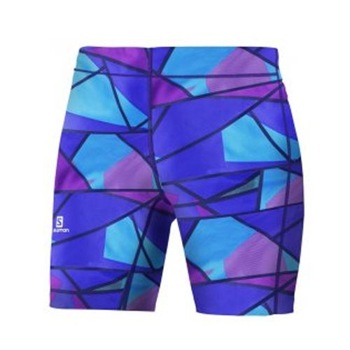Calzas-Salomon-Graphic-Short--Mujer-Blue-Violeta-15692