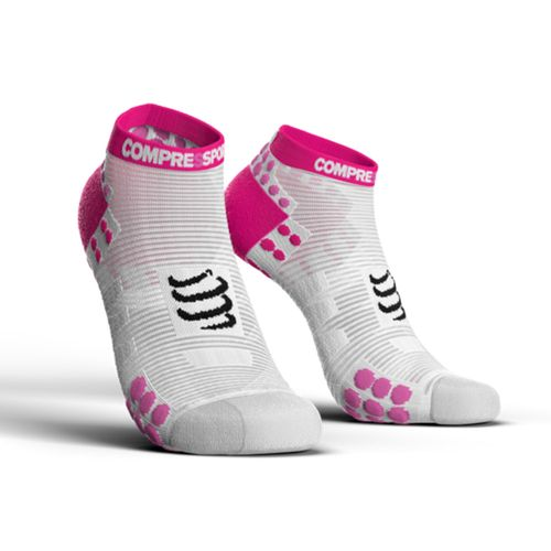 Medias-Compressport-Pro-Racing-V3.0-Running-Low-Socks-Aerobics-White-Pink-100113
