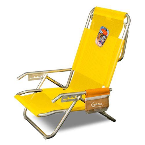 Reposera-Playera-Solcito-Aluminio-5-Posiciones-y-Porta-Objetos---Amarilla--3025