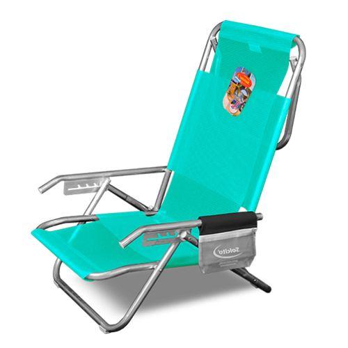 Reposera-Playera-Solcito-Aluminio-5-Posiciones-y-Porta-Objetos-Verde-3025