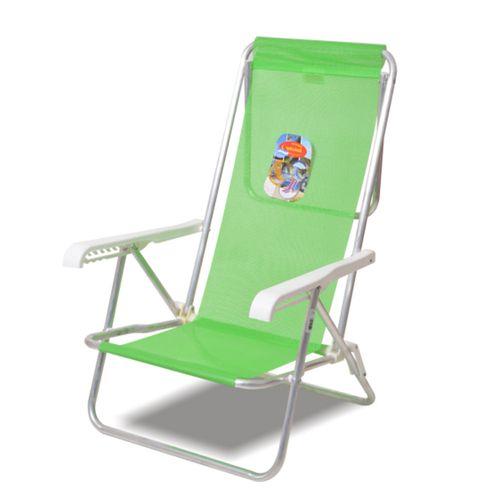 Reposera-Playera-Solcito-Aluminio-3-4-Apoyabrazo-de-Plastico-Verde-3015