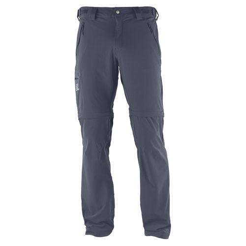 Pantalones-de-Trekking-Salomon-Wayfarer-Zip-Desmontables-Hombre-Graphite-401352
