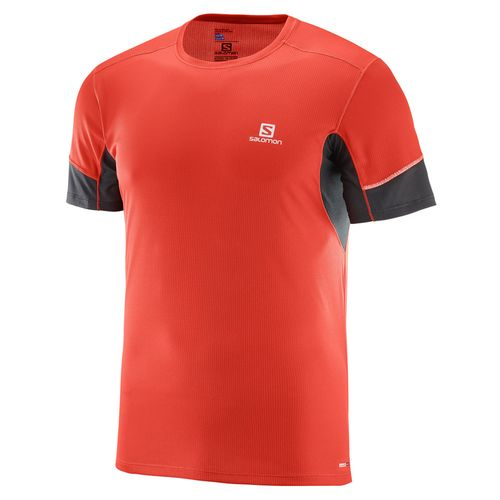 Remera-Running-Salomon-Agile-SS-Tee-M-Hombre-Fiery-Red-402100