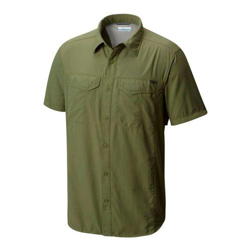 Camisa-Columbia-Silver-Ridge-Manga-Corta-Trekking-Hombre-Mosstone-AM7474-302