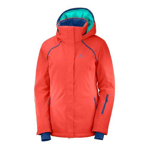 Campera-Salomon-Strike-Ski-Snowboard-Impermeable-10k-Mujer-Hibiscus-404483