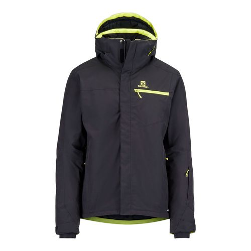 Campera-Salomon-Strike-Ski-Snowboard-Impermeable-10k-Hombre-Black-404490