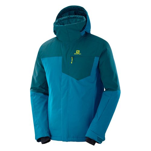 Campera-Salomon-Strike-Ski-Snowboard-Impermeable-10k-Hombre-Blue-404491