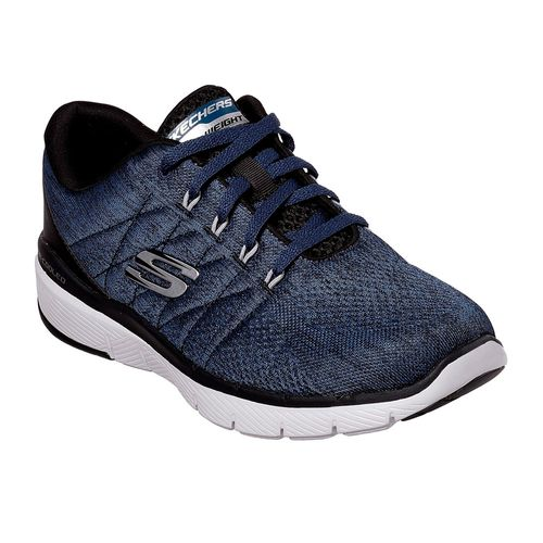 Zapatillas-Skechers-Flex-Advantage-3.0-Stally-Blue-Black-52957-BLBK