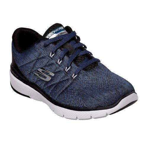 Zapatillas-Skechers-Flex-Advantage-3.0-Stally-Blue-Black-52957-BLBK