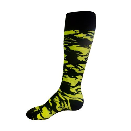 Medias-Quiksilver-Ski-Snow-Mission-Tech--Hombre-Black-Fluo-Green-219213800