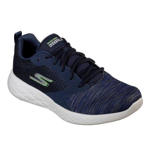 Zapatilla-Skechers-Go-Run-600-Running-Hombre-Navy-Green-55081-NVGR-