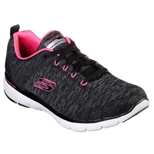 Zapatillas-Skechers-Flex-Appeal-3.0-Running-Mujer-Black-Pink-13062-BKHP
