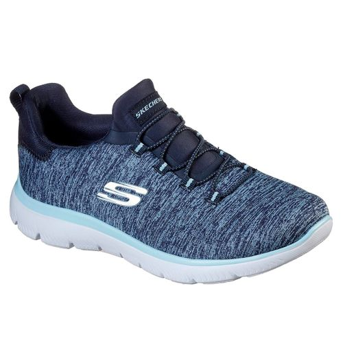 Zapatillas-Skecher-Summits-Quick-Getaway-Running-Mujer-Navy-L.T-Blue-12983-NVLB