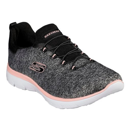 Zapatillas-Skecher-Summits-Quick-Getaway-Running-Mujer-Black-Coral-12983-BKCL