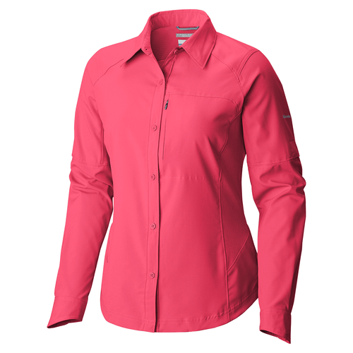 Camisa-Columbia-Silver-Ridge-Manga-larga-Trekking-Mujer-Geranium-AL7079-673