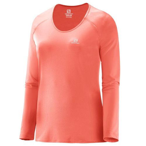 Remera-Camiseta-Termica-Salomon-Hybrid-Mujer-Fluo-Coral-15824