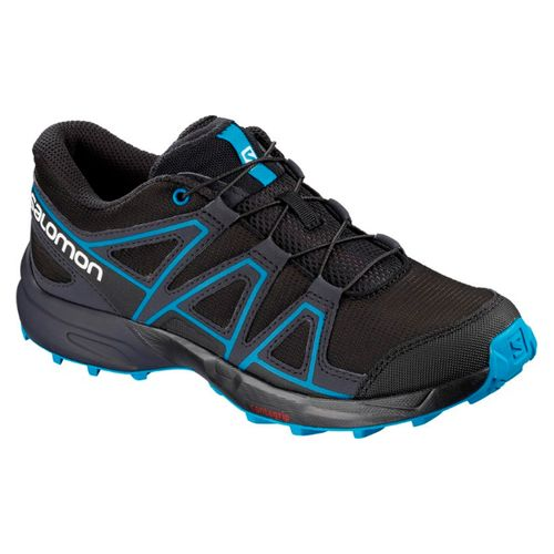 vidrieraZapatilla-Salomon-SpeedCross-Junior-Trail-Running-Niños-Black-Graphite-404820