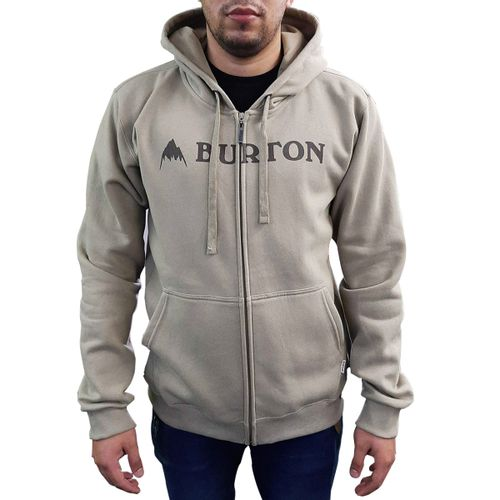 Campera-Canguro-Burton-Logo-Algodon-Hombre-Beige
