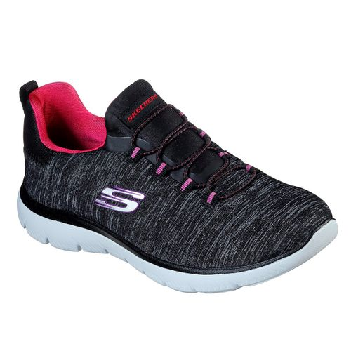 Zapatillas-Skecher-Summits-Quick-Getaway-Running-Mujer-Black-Pink-12983-BKPK