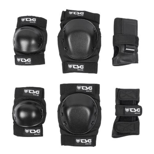 Set-de-Protecciones-TSG-Basic-set-Roller-Skate-Unisex-Black-76027-102