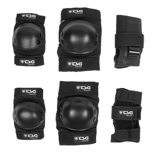 Set-de-Protecciones-TSG-Junior-set-Roller-Skate-Unisex-Black-76009-102