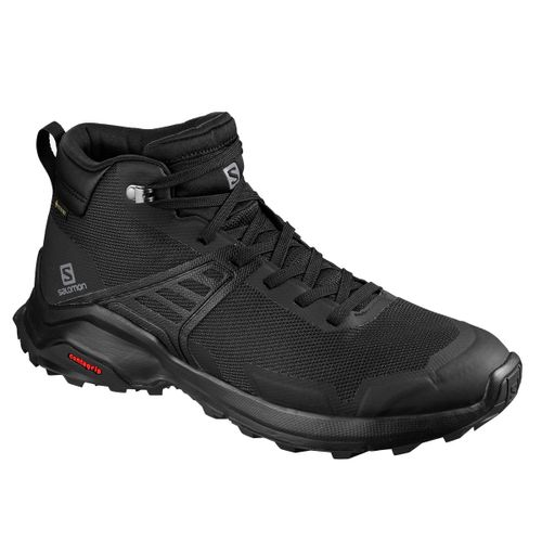 Botas-Salomon-X-Raise-Mid-GTX-Gore-Tex-Trekking-Senderismo-Hombre-Black-410957