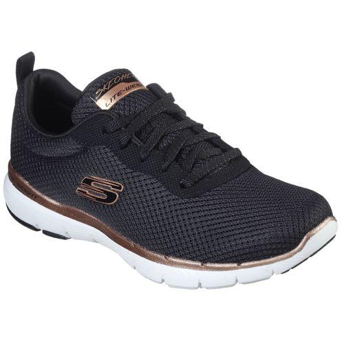 Zapatillas-Skecher-First-Indight-Running-Mujer-Black-Rose-Gold-13070-BKRG