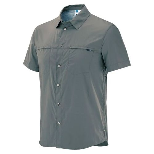 Camisa-Salomon-Stretch-CZ-Manga-Corta-Trekking-Hombre-Dusty-Grey-S62814